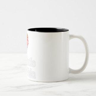 Dolor ciático taza de café de dos colores