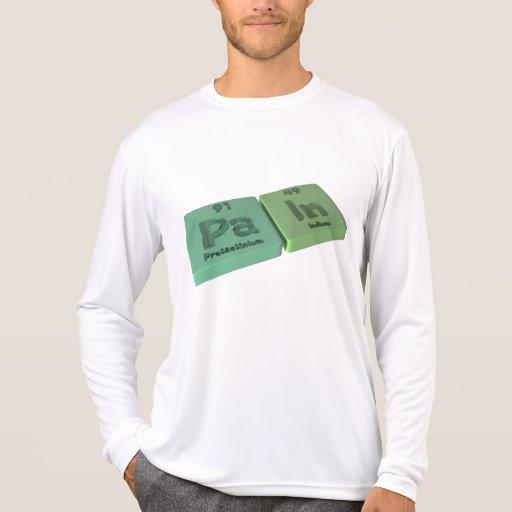 Dolor como Protactinium del PA y en indio Camiseta