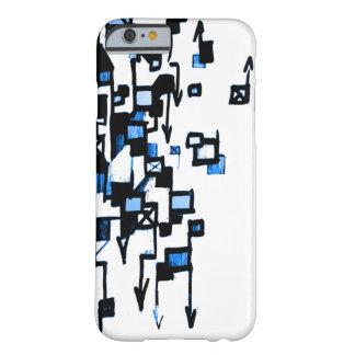 Dolor D (azul) Funda De iPhone 6 Barely There