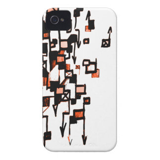 Dolor D (moho Orng) iPhone 4 Case-Mate Funda