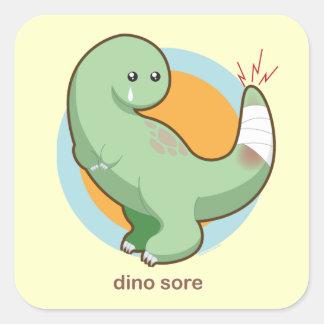 Dolor de Dino Pegatina Cuadrada
