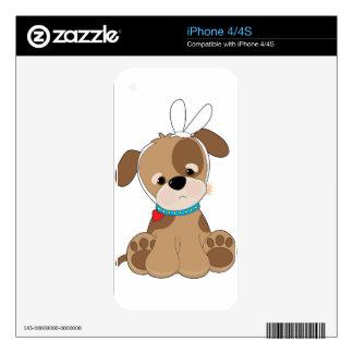 Dolor de muelas del perrito iPhone 4 calcomanía