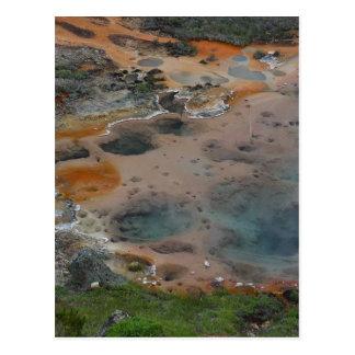 Dolor hidrotérmico de los artistas de los colores  tarjeta postal