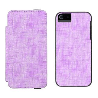 Dolor ocultado en púrpura funda billetera para iPhone 5 watson