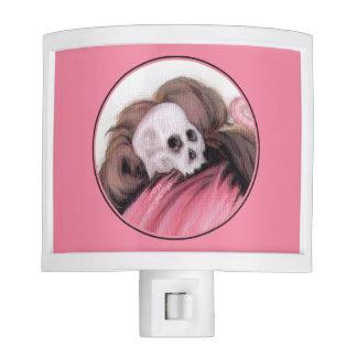Dolor rosado del ruido - cráneo lámparas de noche