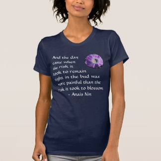 Dolor y riesgo - Anais Nin - camisa
