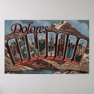 Dolores, Colorado - Large Letter Scenes Print