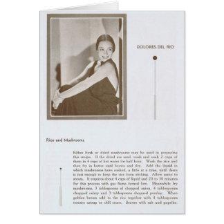 Dolores Del Rio Recipe Card