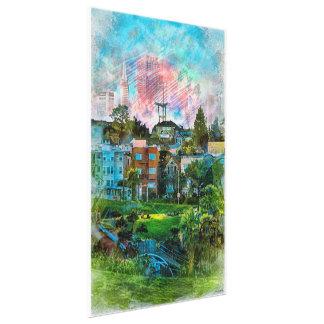 Dolores Park AKA Hipsters Wonderland San Francisco Gallery Wrap Canvas