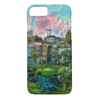 Dolores Park AKA Hipsters Wonderland San Francisco iPhone 8/7 Case