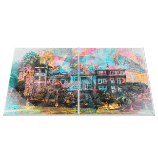 Dolores' park Painted ladies in San Francisco Gallery Wrapped Canvas