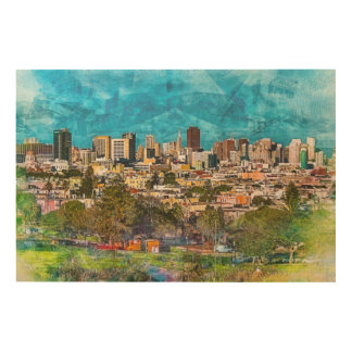 DoloresPark for a Downtown SanFrancisco Overview Wood Wall Art
