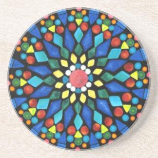 Dolorful Gemstones Mosaic Drink Coasters