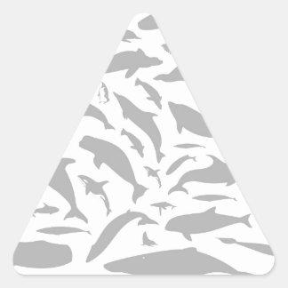 Dolphin a background triangle sticker