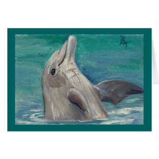 Dolphin aceo Blank Card