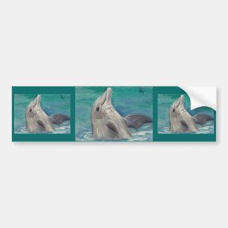 Dolphin aceo Bumper Sticker