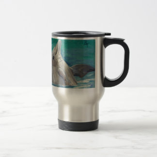 Dolphin aceo Travel Mug