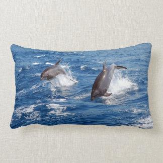 Dolphin Adventure Lumbar Pillow