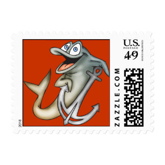 Dolphin Anchor Postage Stamps
