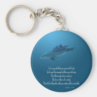 Dolphin and Baby Key Chain