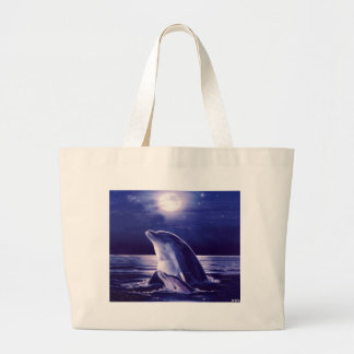 Dolphin and Baby Large Tote Bag