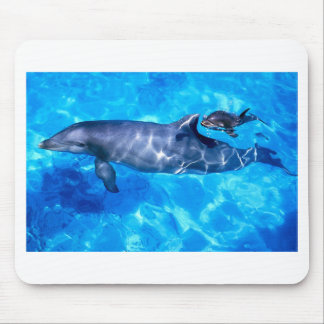 Dolphin and Baby Mouse Pads