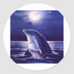 Dolphin and Baby Round Sticker