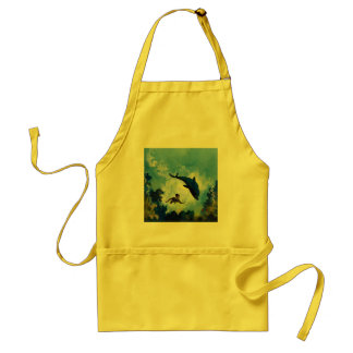DOLPHIN and BOY Adult Apron