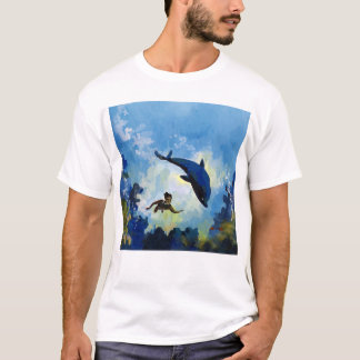 DOLPHIN and BOY T-Shirt
