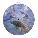 Dolphin and diving birds dartboards