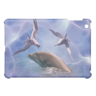 Dolphin and diving birds iPad mini case