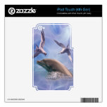 Dolphin and diving birds iPod touch 4G skin