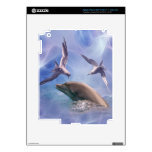Dolphin and diving birds skin for iPad 3