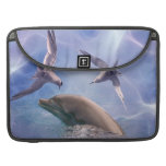 Dolphin and diving birds sleeve for MacBooks