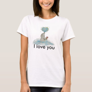 Dolphin and heart T-Shirt
