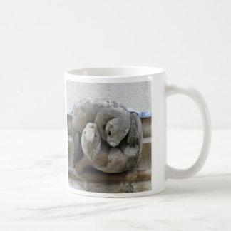 Dolphin and otter gargoyles mug