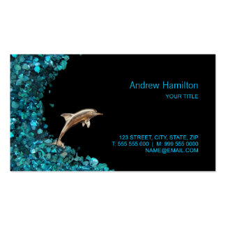 Dolphin and Paua Shell business card
