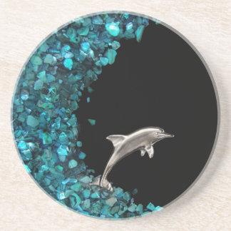 Dolphin and Paua Shell coaster