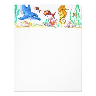 Dolphin and Seahorse Letterhead