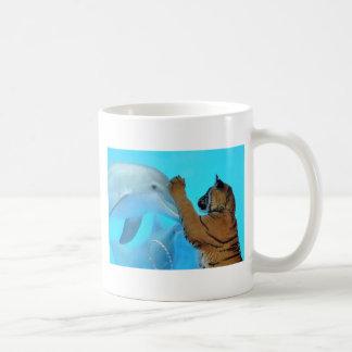 Dolphin and Tiger meet Classic White Coffee Mug