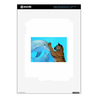 Dolphin and Tiger meet iPad 3 Decals