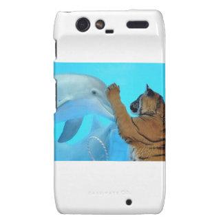 Dolphin and Tiger meet Motorola Droid RAZR Case