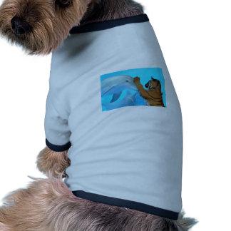 Dolphin and Tiger meet Pet Tee Shirt
