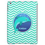 Dolphin; Aqua Green Chevron iPad Air Case