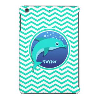 Dolphin; Aqua Green Chevron iPad Mini Cover