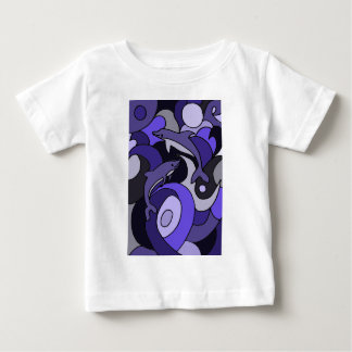 Dolphin Art Abstract Design Baby T-Shirt