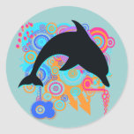 Dolphin Art Classic Round Sticker