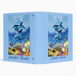 Dolphin Art Personalized School or Keepsake Binder