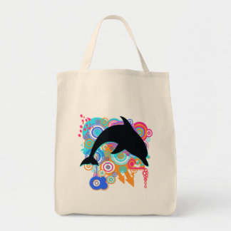 Dolphin Art Tote Bag