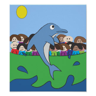 Dolphin at Play Classroom Poster